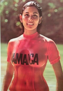 1972 red shirt Jamaica Advertisement