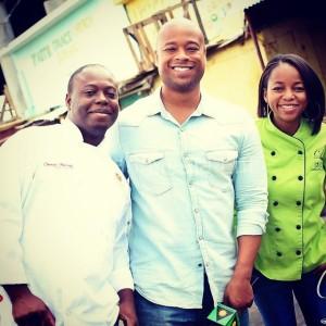 Charles with Chefs Latoya and Ricardo